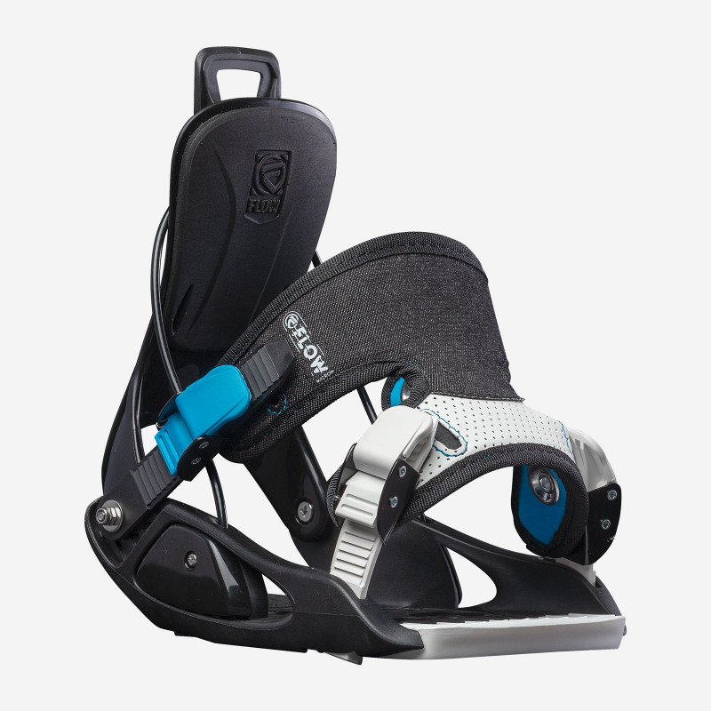 Flow NX2-GT Speed Entry Snowboard Binding, shown in black color, three-quarter view