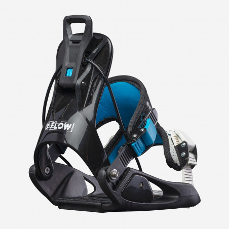 Flow NX2-GT Speed Entry Snowboard Binding, shown in black color, above view