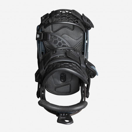 Flow NX2-GT Speed Entry Snowboard Binding shown in black colour, above view
