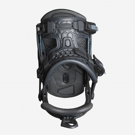 Flow NX2-CX Speed Entry Snowboard Binding, shown in black color, side view