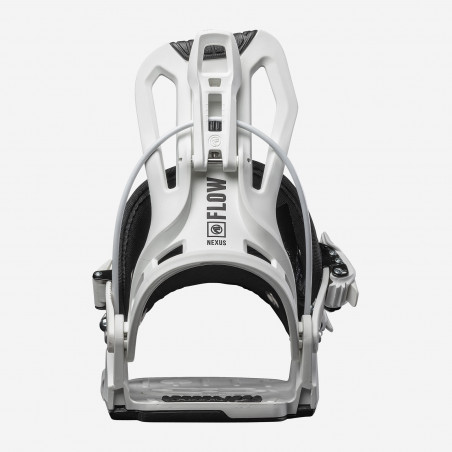 Flow NX2 Speed Entry Snowboard Binding shown in driftwood colour, side view