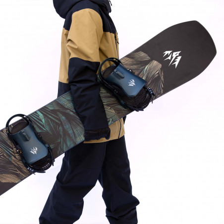 Flow NX2 Speed Entry Snowboard Binding shown in gunmetal colour, side view