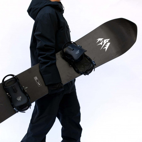 Flow NX2 Speed Entry Snowboard Binding shown in gunmetal colour, rear 3/4 view