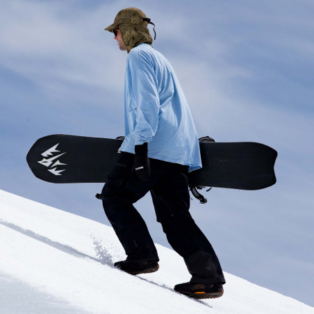 Flow NX2 Speed Entry Snowboard Binding shown in gunmetal colour, 3/4 view