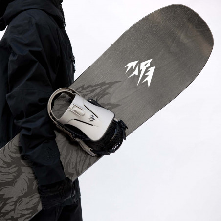 Flow NX2 Speed Entry Snowboard Binding shown in orange colour, rear 3/4 view
