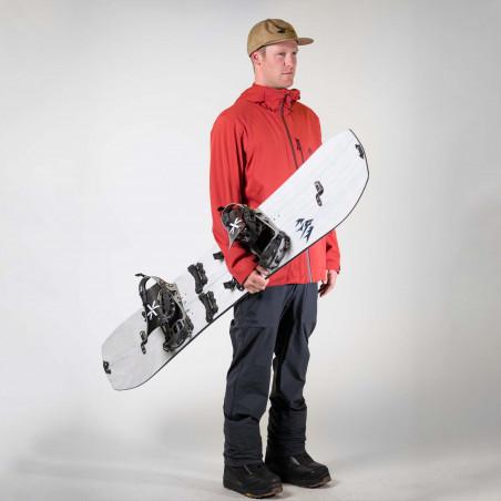 Flow Nexus Speed Entry Snowboard Binding, shown in black color, 3/4 view