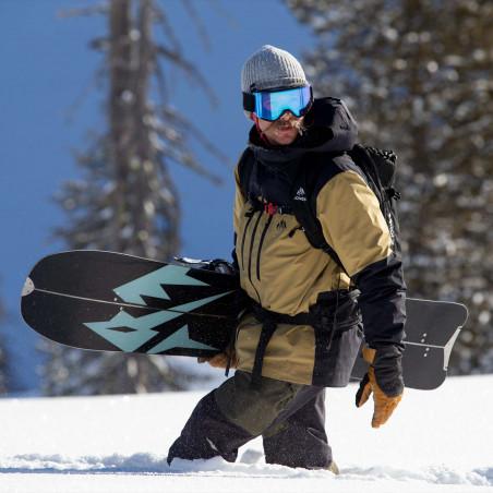 Flow Nexus Speed Entry Snowboard Binding, shown in black color, rear view