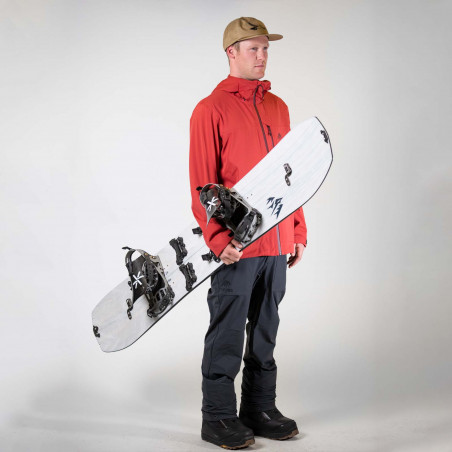 Flow Mayon Speed Entry Snowboard Binding, shown in white/green color, side view